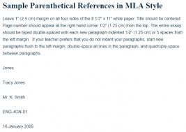 Mla In Text Citation For Website Sample Parenthetical References In Mla Style A Research Guide