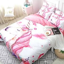 white duvet covers king size unicorn fl cartoon bedding set pink girl cute cover sets twin white duvet covers king size