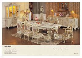 Reproduction Bedroom Furniture Hand Carving Leaf Gilding Dining Room Setantique Classic