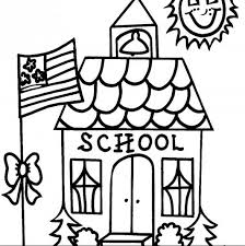 Small Picture School House Coloring Page Coloring Book