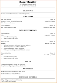 college freshman resume sample