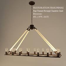 restoration hardware rope filament rectangle chandelier small 3d model 3ds 1