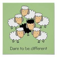 Dare To Be Different Black Sheep Poster | Zazzle.com