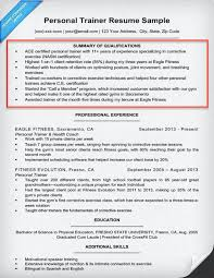 personal trainer qualifications summary example example of a summary for a resume