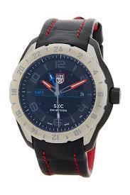 luminox men s watches nordstrom rack luminox men s 5127 space gmt leather strap watch
