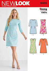 Knit Dress Pattern Amazing Misses Knit Dresses New Look Sewing Pattern 48 Sew Essential