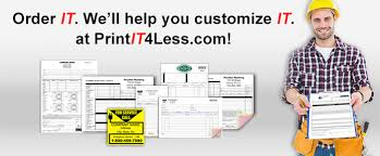 custom service invoices custom printing multi part carbonless invoices forms