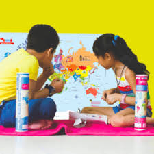 world map educational birthday return gift
