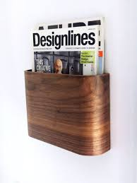 Multiple Magazine Holder Fascinating Magazine Rack Wall Hung Wooden Magazine Holder креативные штуки