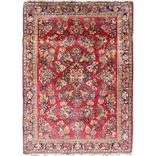 very fine persian sarouk small rug for at 1stdibs small round rugs for