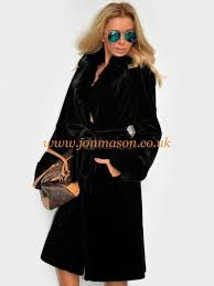 relaxed womens black faux fur coat long belted wrap coat outerwear faux fur particular
