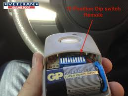 dip switch garage door remote