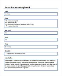 Advertising Storyboard Templates 5 Free Samples Examples Format