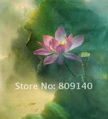 feng shui paintings for office. Realist Flower Oil Painting Canvas Chinese Lotus Blossom Sunshine Feng Shui Artwork Home Office Hotel Wall Paintings For