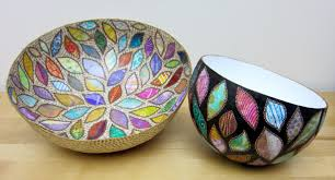 How To Decorate A Bowl Printing with Gelli Arts Paper Mache Bowls with Gelli™ Prints 44