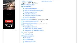 Top 6 Places for Algebra II Worksheets and Algebra II Homework ...