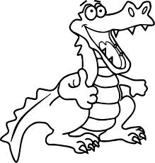 Small Picture Happy Crocodile Alligator Coloring Page Wecoloringpage