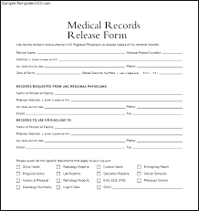 Request For Medical Records Form Template Medical Release Form Medical Records Release Log Template