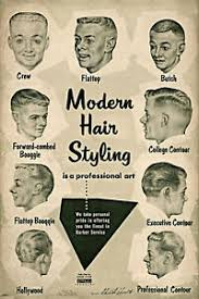 Details About Vintage Ad Modern Hair Styling Chart Barbershop Haircut Drawings Decor Poster