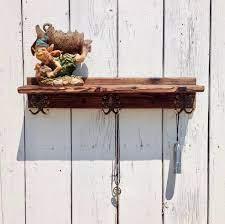 entryway wood coat rack shelf with