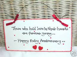image is loading ruby 40th wedding anniversary gift present sign plaque