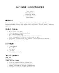 Bartending Resume Examples Gorgeous Bartender Resume Objective Examples Server For Position Objectives