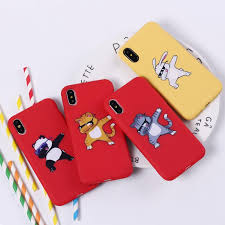 cute cartoon panda dab swag on soft silicone phone case coque fundas for iphone 7 7plus 6 6s 6plus 5 5s 8 8plus x protective cell phone cases reiko cell