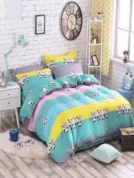 affordable panda print 3pcs comfortable bedding set