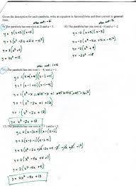 unit 5 quadratics mr roos hempstead high school math factored form to vertex w