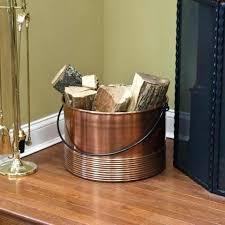 copper firewood copper firewood holder alluring log holder fireplace design regarding amazing ribbed cauldron copper firewood