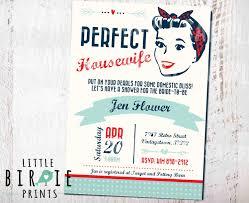 Kitchen Bridal Shower Housewife Retro Bridal Shower Invitation 1950s Perfect
