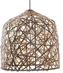 hanging lamp black bird s nest