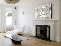 fireplace mantel mirror mosaic