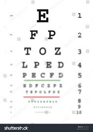 Blurry Eye Test Chart Eye Test Chart Getting Blurred Bottom Stock Illustration 5412976