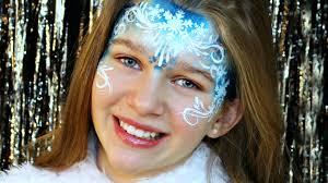 elsa frozen snow princess makeup face painting tutorial you