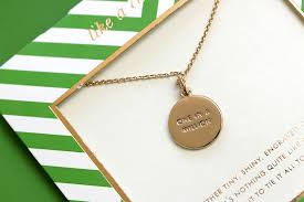 kate spade one in a million initial pendant necklace kate spade initial necklace