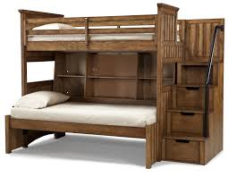 Timber Lodge Twin Size Bookcase Bunk with Storage Stairs by Legacy ...