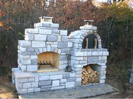 outdoor fireplace with pizza oven plans wood fired brick pertaining to fire