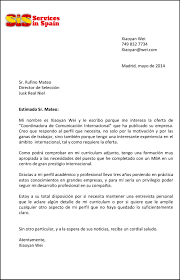 Sample Letter Servicesinspain