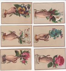 antique hand mirror tattoo. 6 Brown Cards With Hands Holding Flowers No Advertising Victorian Card Antique Hand Mirror Tattoo