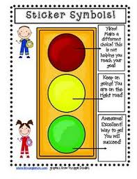Red Yellow Green Behavior Chart Use Red Yellow Green Garage Sale Stickers To Help Children
