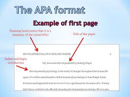 Apa Format Introduction Example Of 6th Grade Intro For Research Paper
