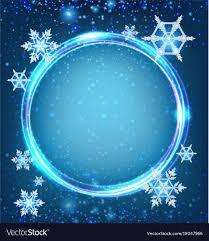 Border Template With Snowflakes In Blue