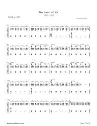 The Last Of Us ラストオブアス無料の楽譜五線譜両手略譜を