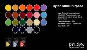 Dylon Dye Colour Chart Dylon Multi Purpose Dyes Vgb Art