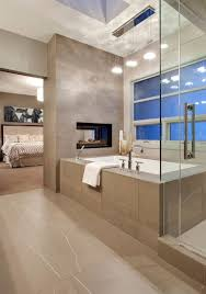 nice dual fireplace between the bedroom and bathroom but is it too open there s really no bathroom privacy in this layout layouts bedrooms
