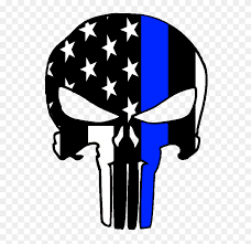 thin blue line punisher sticker