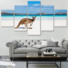 home wall decor australia kangaroo canvas print painting framed art poster 1600 1600
