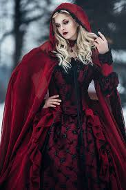 halloween wedding gown gothic sleeping beauty red and black
