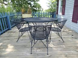 mesh patio table wrought iron mesh patio table and four chairs metal mesh patio coffee table